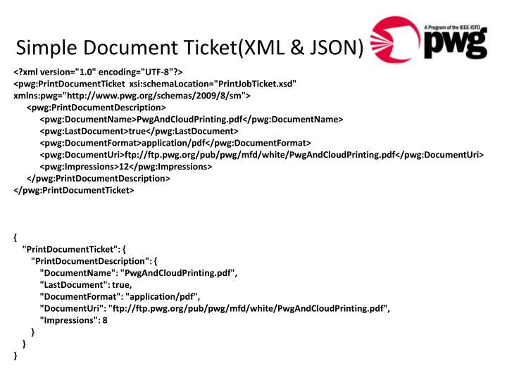 Simple Document Ticket(XML & JSON)