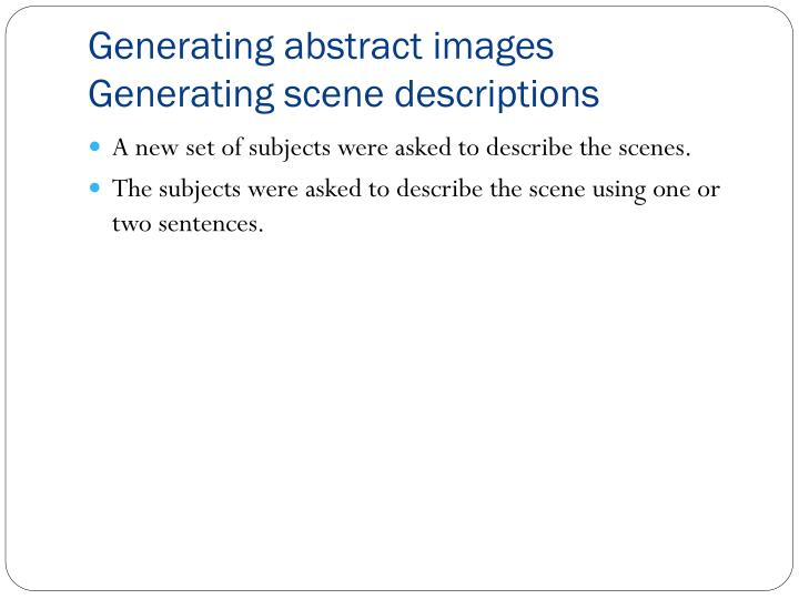 Generating abstract images