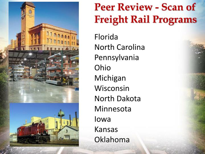 Peer review scan of freight rail programs