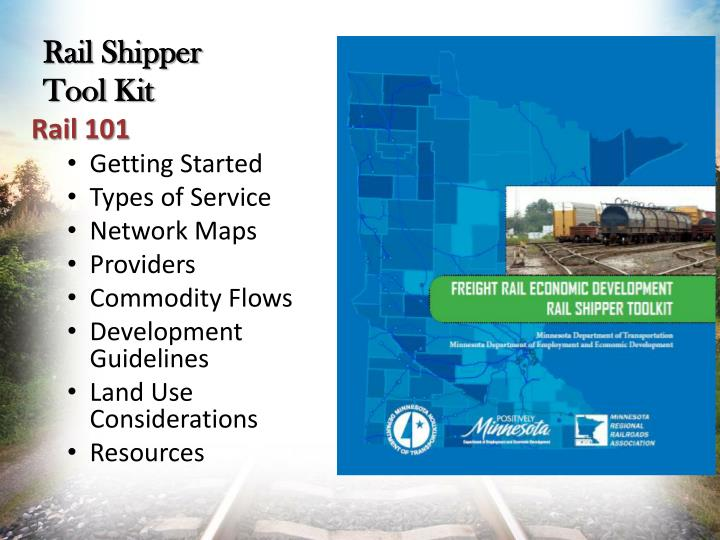 Rail Shipper Tool Kit