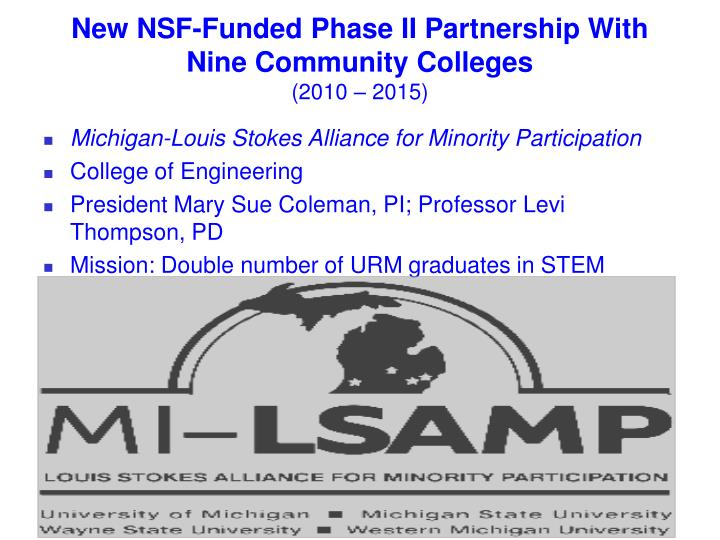New NSF-Funded Phase II Partnership With Nine Community Colleges