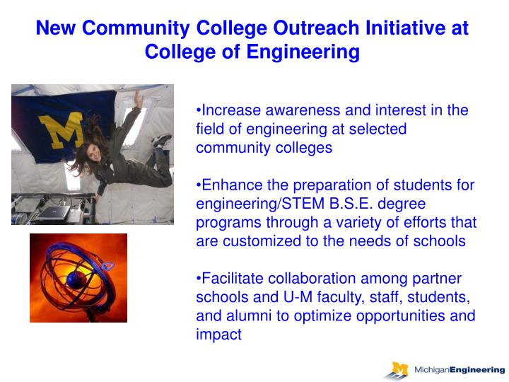 New Community College Outreach Initiative at College of Engineering