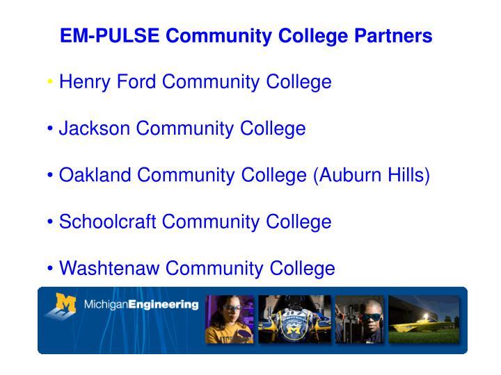 EM-PULSE Community College Partners