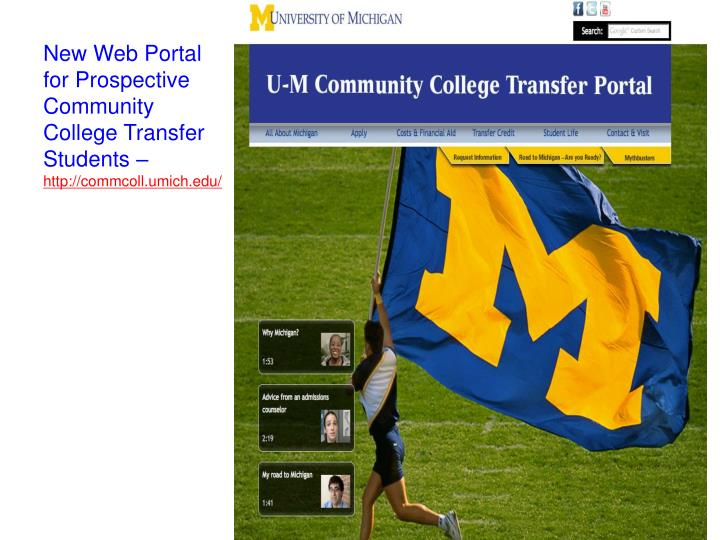 New Web Portal for Prospective Community College Transfer Students –