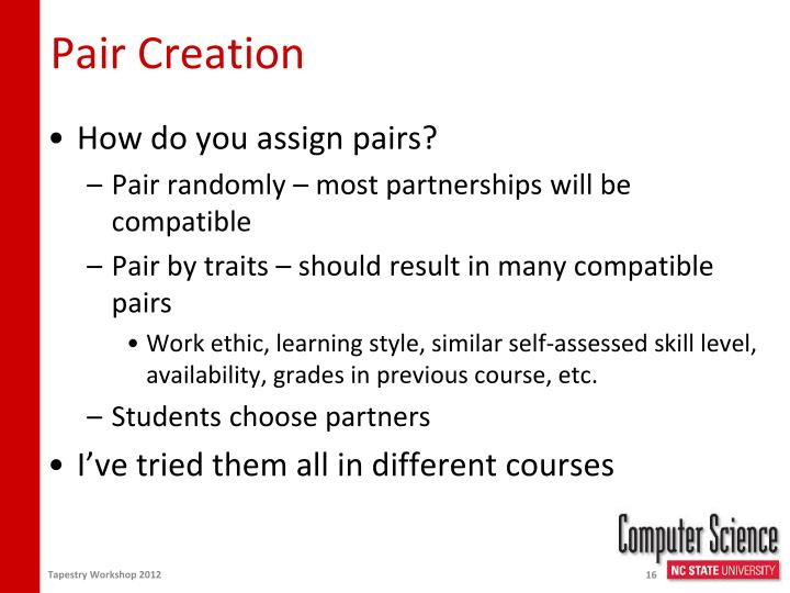 Pair Creation