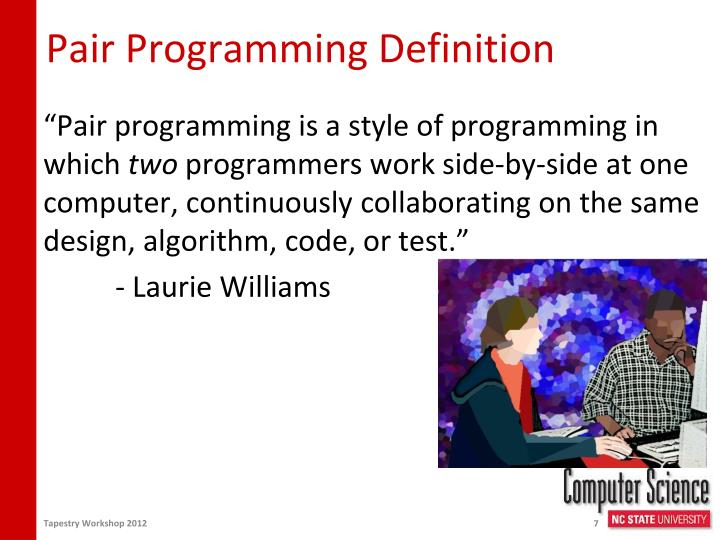 Pair Programming Definition