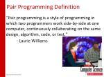 pair programming definition