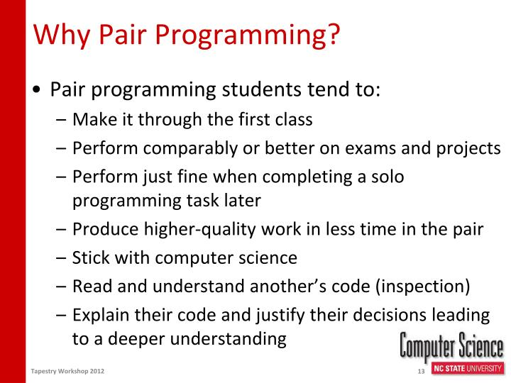 Why Pair Programming?