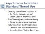 asynchronous architecture standard thread use