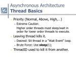 asynchronous architecture thread basics