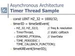 asynchronous architecture timer thread sample