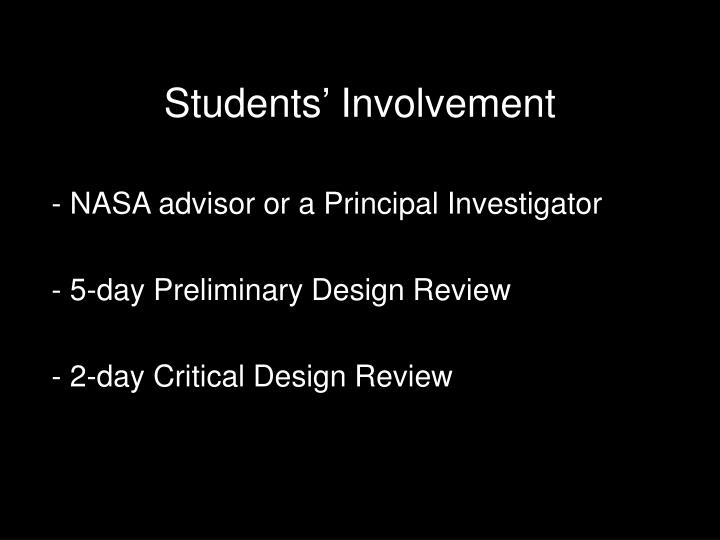 Students' Involvement