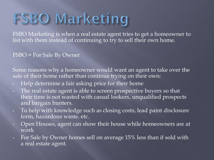 FSBO Marketing