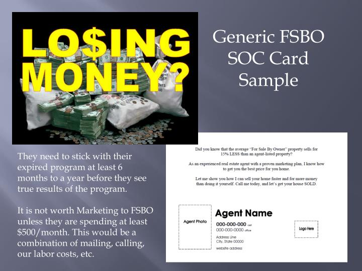 Generic FSBO SOC Card Sample