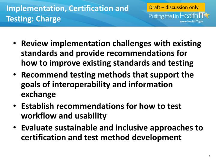Implementation, Certification and