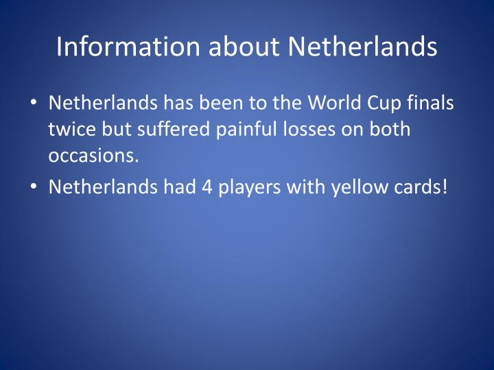 Information about Netherlands