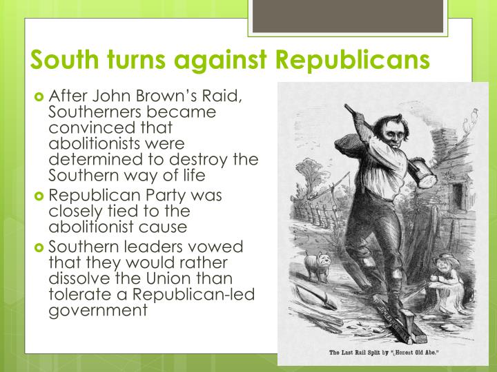 South turns against Republicans