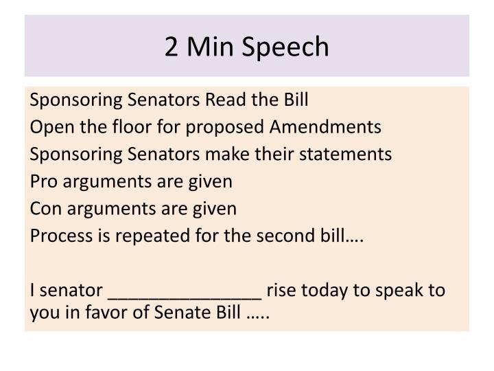 2 Min Speech