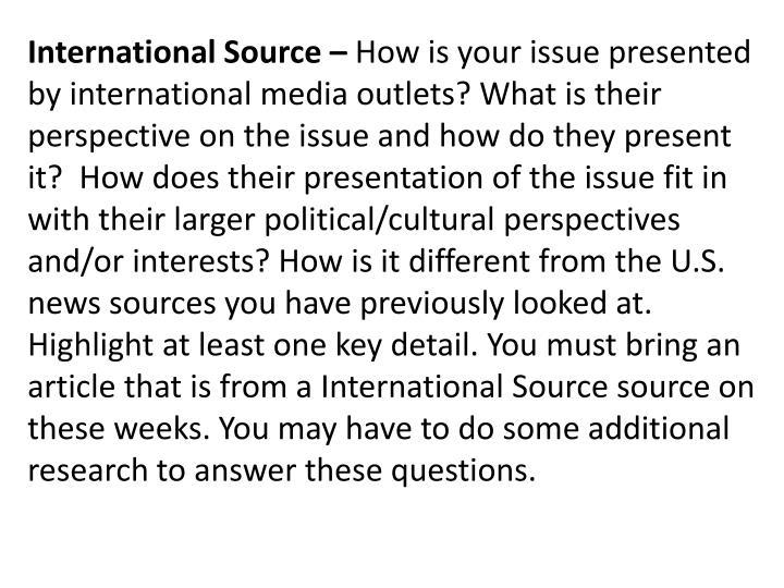 International Source –