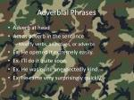 adverbial phrases