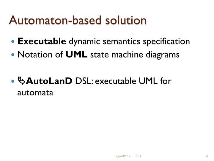 Automaton-based solution
