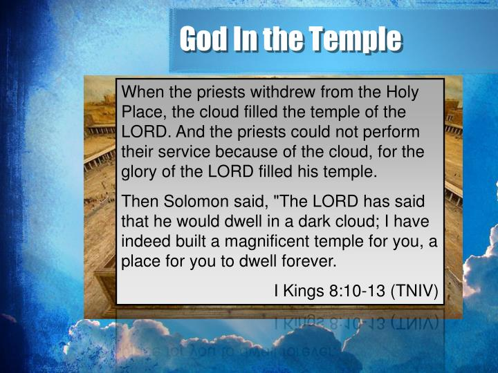 God In the Temple