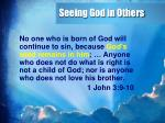 seeing god in others