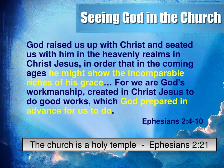 Seeing God in the Church