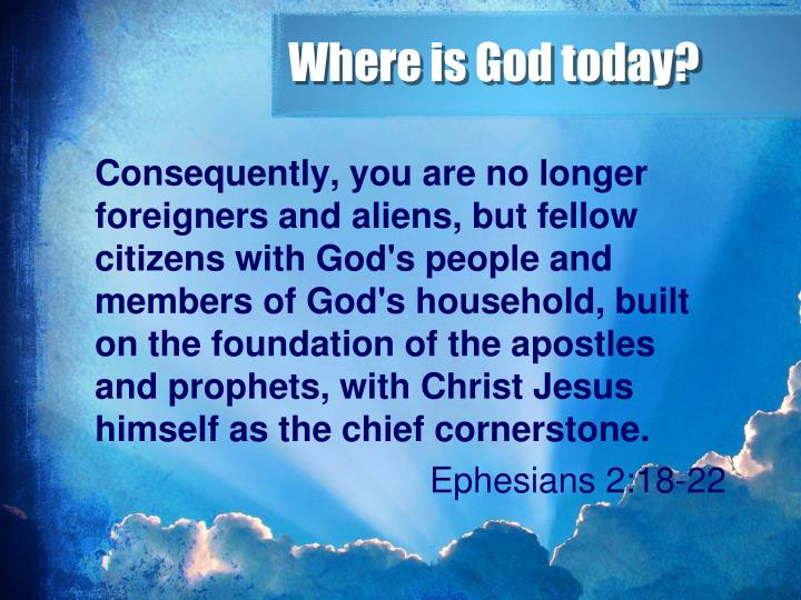 Where is God today?