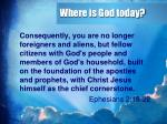 where is god today1