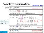 complete formulation