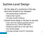 system level design