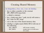 creating shared memory