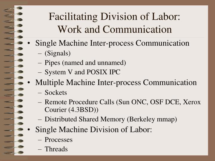 Facilitating Division of Labor: