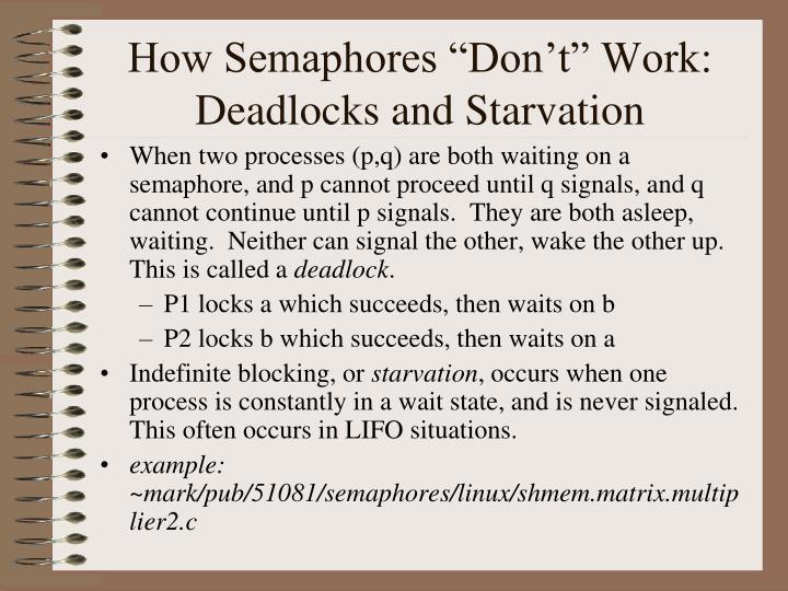 "How Semaphores ""Don't"" Work:"