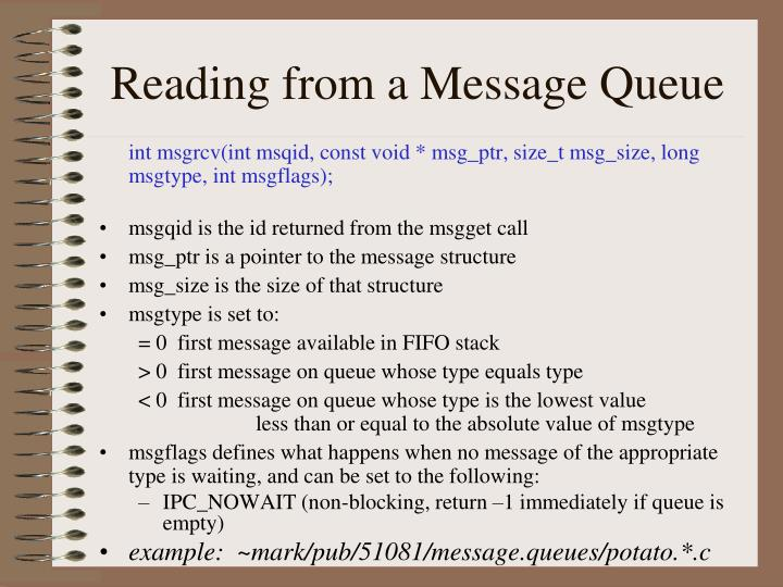 Reading from a Message Queue