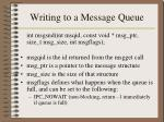 writing to a message queue