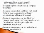 why quality assurance