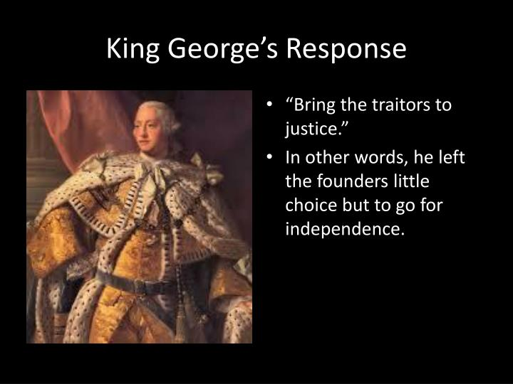 King George's Response