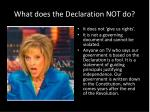 what does the declaration not do