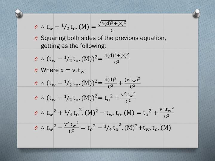 Squaring both sides of the previous equation, getting as the following: