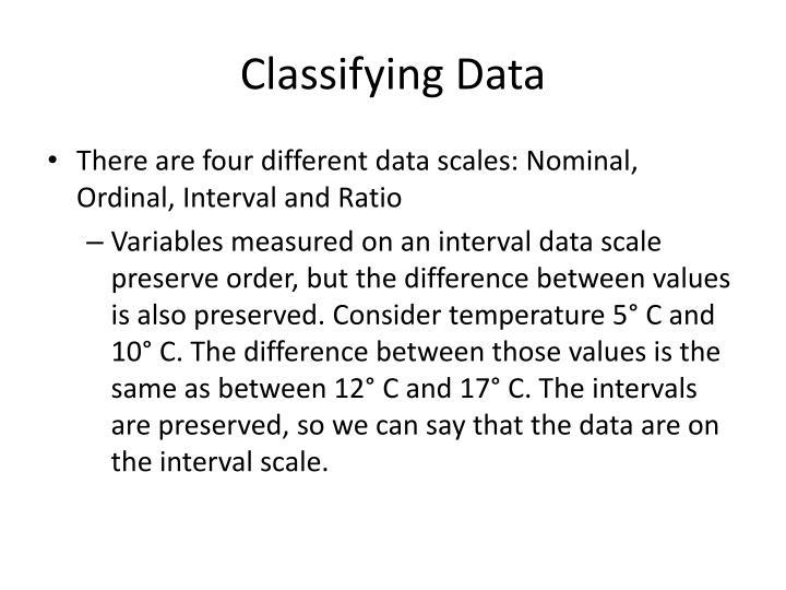 Classifying Data