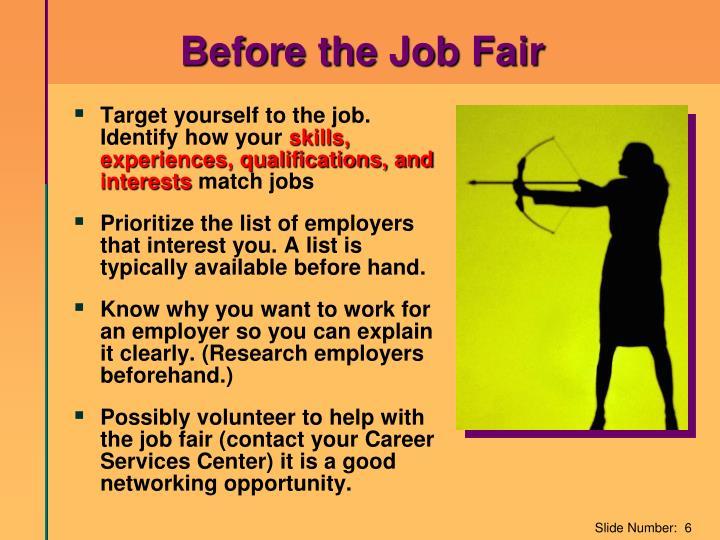 Before the Job Fair