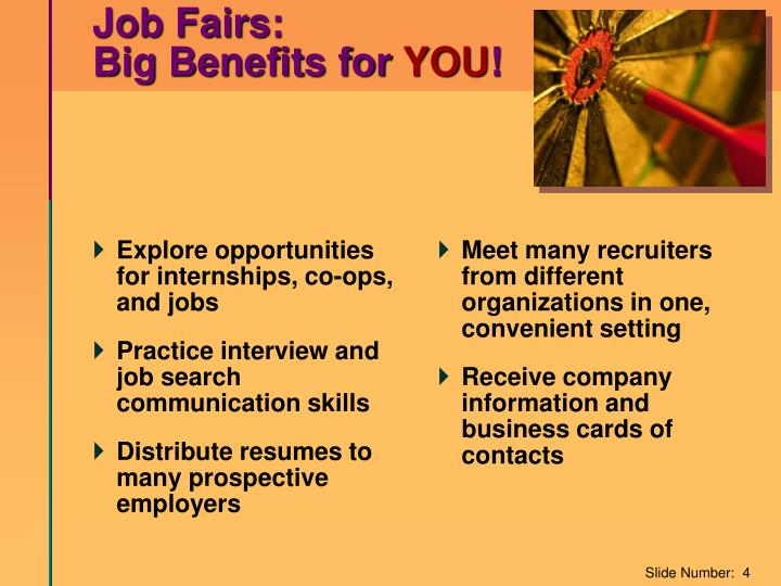 Explore opportunities for internships, co-ops, and jobs