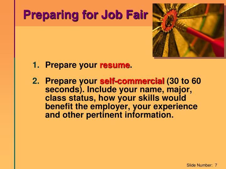 Preparing for Job Fair