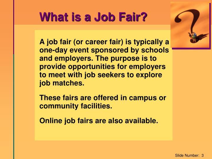 What is a Job Fair?