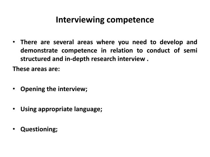 Interviewing competence