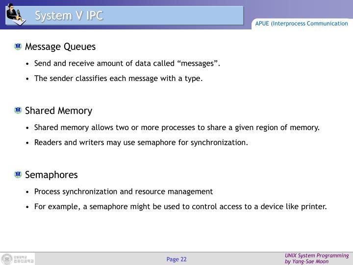 System V IPC