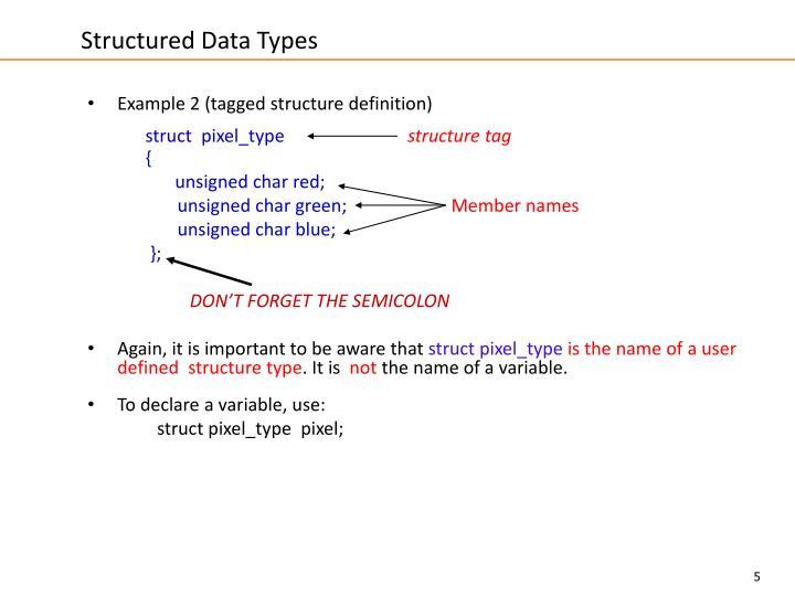 Structured Data Types