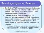 semi lagrangian vs eulerian